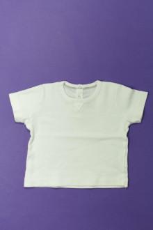vetements d occasion bébé Tee-shirt manches courtes Petit Bateau 6 mois Petit Bateau