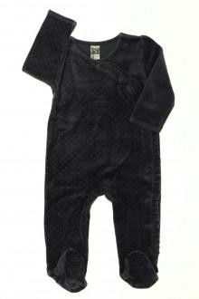 Habit de bébé d'occasion Pyjama/Dors-bien en velours à pois Tape à l'Œil 12 mois Tape à l'œil