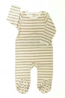vêtements bébés Pyjama/Dors-bien rayé en velours Vertbaudet 12 mois Vertbaudet