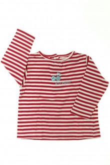 habits bébé Tee-shirt manches longues rayé Tout Compte Fait 12 mois Tout Compte Fait