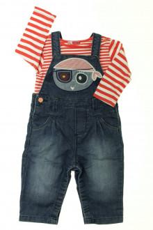 Habits pour bébé Ensemble salopette en jean et tee-shirt DPAM 18 mois DPAM