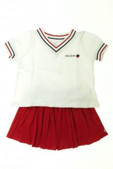 vetement enfants occasion Ensemble jupe et tee-shirt Petit Bateau 3 ans Petit Bateau