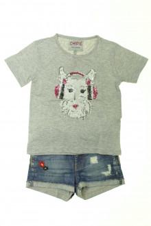 vetements enfants d occasion Ensemble short et tee-shirt Chipie 5 ans Chipie