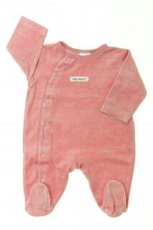 habits bébé Pyjama/Dors-bien rayé en velours Z 1 mois Z