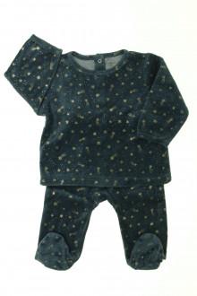 Habits pour bébé Pyjama étoilé en velours  Vertbaudet 6 mois Vertbaudet