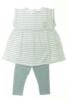 vetement bébé d occasion Ensemble robe et legging Vertbaudet 12 mois Vertbaudet