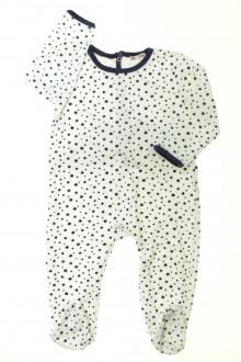 vêtements enfants occasion Pyjama/Dors-bien étoilé en velours DPAM 2 ans DPAM