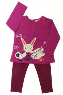 vetement occasion enfants Ensemble tee-shirt et legging DPAM 2 ans DPAM