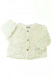 vêtements bébés Gilet en moumoutte La Compagnie des Petits 3 mois La Compagnie des Petits