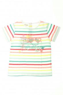 vêtements occasion enfants Tee-shirt manches courtes rayé