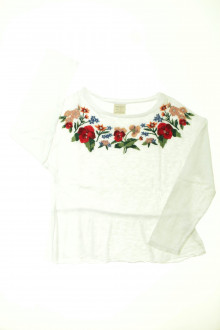 vetements enfants d occasion Tee-shirt manches longues brodé Zara 8 ans Zara