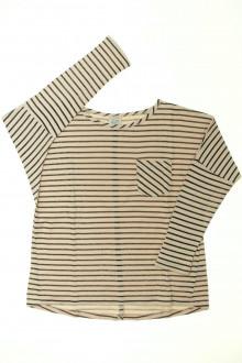 vetements enfants d occasion Tee-shirt rayé manches longues Little Karl Marc John 8 ans Little Karl Marc John