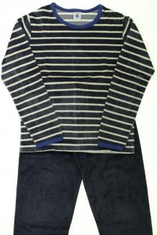 vetement marque occasion Pyjama rayé en velours  Petit Bateau 10 ans Petit Bateau