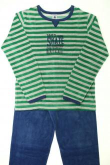 vetements enfants d occasion Pyjama rayé en velours  Petit Bateau 10 ans Petit Bateau