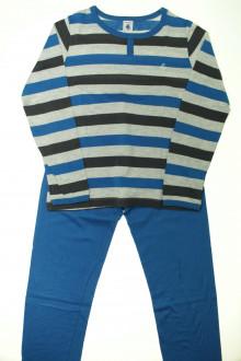 vetement marque occasion Pyjama rayé en coton Petit Bateau 10 ans Petit Bateau