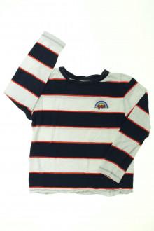 vêtements occasion enfants Tee-shirt manches longues à rayures Monoprix 8 ans Monoprix