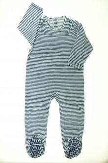 vetement enfant occasion Pyjama/Dors-bien rayé en velours Vertbaudet 3 ans Vertbaudet