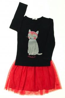 vetements enfant occasion Ensemble jupe et tee-shirt Billieblush 4 ans Billieblush