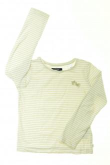 vetement d occasion enfant Tee-shirt manches longues rayé Okaïdi 5 ans Okaïdi
