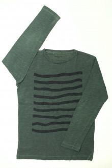 vêtements occasion enfants Tee-shirt manches mongues rayé Monoprix 10 ans Monoprix