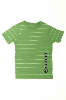 vetement occasion enfants Tee-shirt rayé manches courtes Okaïdi 5 ans Okaïdi