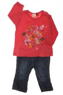 Ensemble jean et tee-shirt manches longues d'occasion de la marque IKKS en taille 3 mois IKKS