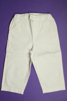Habit de bébé d'occasion Pantalon blanc Petit Bateau 18 mois Petit Bateau