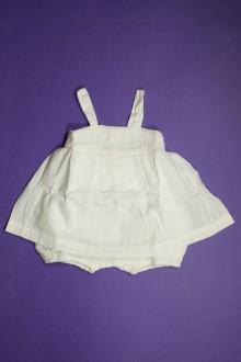 Habit de bébé d'occasion Robe avec body intégré Bout'Chou 3 mois Bout'Chou