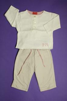 Habit d'occasion pour bébé Ensemble pantalon et tee-shirt DPAM 3 mois DPAM