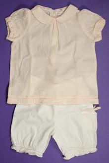 vetement bébé d occasion Ensemble pantacourt et blouse légère Vertbaudet 9 mois Vertbaudet