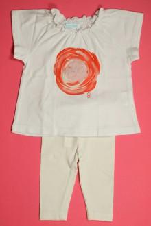 vetements d occasion bébé Ensemble tee-shirt et legging Obaïbi 3 mois Obaïbi