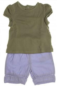 Habits pour bébé Ensemble short et tee-shirt manches courtes Vertbaudet 3 mois Vertbaudet