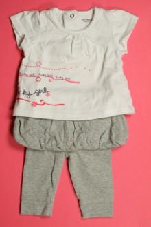 vêtements bébés Ensemble legging/jupette et tee-shirt Vertbaudet 3 mois Vertbaudet