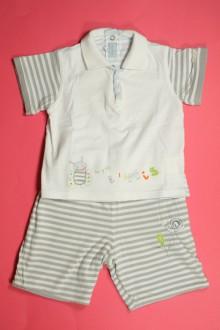 Habits pour bébé Ensemble bermuda réversible et polo Marèse 12 mois Marèse