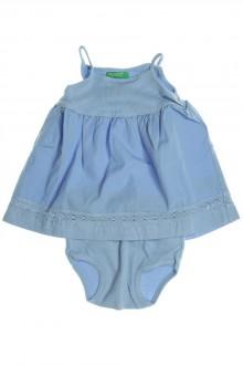 vetement bébé d occasion Ensemble robe et culotte Benetton 3 mois Benetton