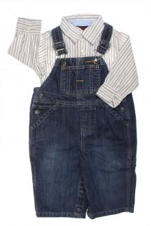 Ensemble salopette en jean et chemise, Gap, 6 mois Gap