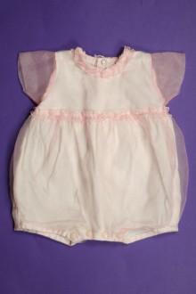 habits bébé Barboteuse en tulle Les Bébés de Floriane 1 mois Les Bébés de Floriane