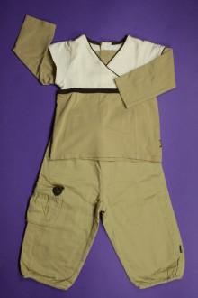 Habit de bébé d'occasion Ensemble pantalon et tee-shirt effet cache-cœur Obaïbi 18 mois Obaïbi