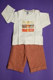 vetements d occasion bébé Ensemble pantacourt à chevrons et tee-shirt Zara 18 mois Zara