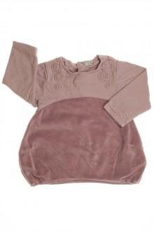 vêtements bébés Robe manches longues en velours Taille 0 6 mois Taille 0