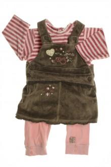 vetements d occasion bébé Ensemble robe à bretelles et body Absorba 3 mois Absorba