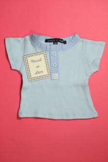 Tee-shirt manches courtes - NEUF d'occasion de la marque Marcel et Léon en taille 3 mois Marcel et Léon