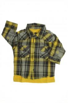Habit de bébé d'occasion Chemise 2 en 1 à carreaux Sans marque 6 mois Sans marque