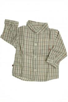 habits bébé occasion Chemise à carreaux Obaïbi 6 mois Obaïbi
