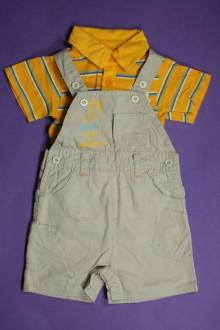 vêtements bébés Ensemble salopette courte et polo Tout Compte Fait 3 mois Tout Compte Fait