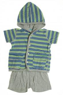 habits bébé Ensemble tee-shirt à capuche et short DKNY 3 mois DKNY