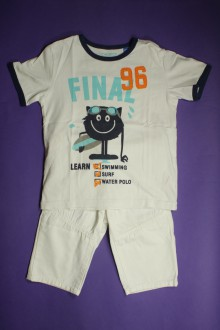 vêtements occasion enfants Ensemble tee-shirt et bermuda Okaïdi 6 ans Okaïdi