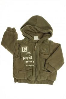 habits bébé occasion Sweat zippé bi-matière Cadet Rousselle 6 mois Cadet Rousselle