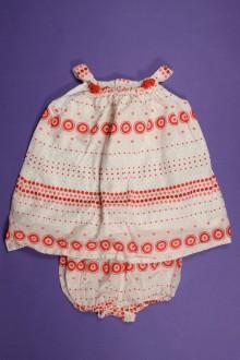 habits bébé Robe et culotte à pois Natalys 3 mois Natalys