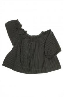 vêtements bébés Blouse Vichy Bonton 6 mois Bonton